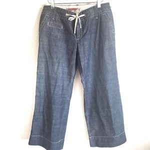 GAP Wide Leg Drawstring Capris Size 4